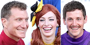 "The Wiggles - The ""New Wiggles"": Simon Pryce, Emma Watkins, and Lachy Gillespie"