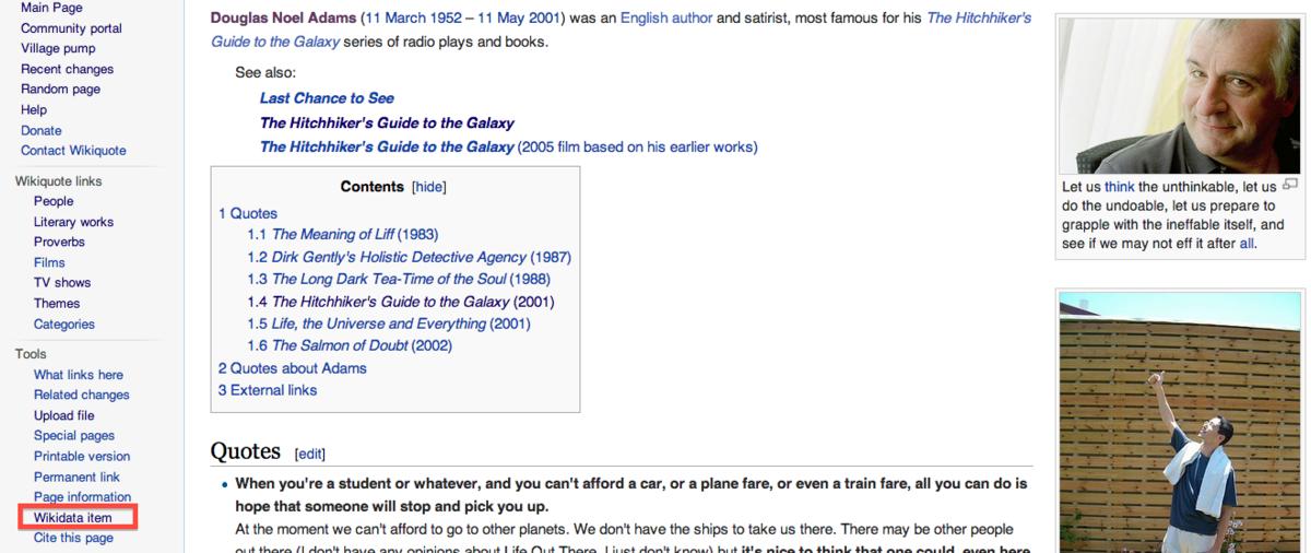 File Wikidata item on Wikiquote Wikimedia mons