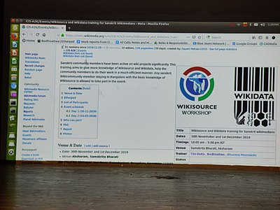 Wikisource and Wikidata training for Sanskrit Wikimedians- day 2.8.jpg