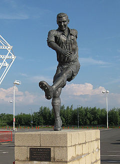 Statue outside the Riverside Stadium of Middlesbrough F. C.
