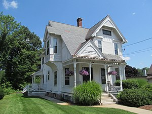 National Register of Historic Places listings in Southbridge, Massachusetts - Image: William E. Alden House, Southbridge MA