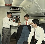 William Martin and Ronald Reagan on AF1.jpg