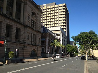 William Street, Brisbane - William Street, looking towards Parliament House.