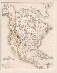 Map From 1889 By William T Hornaday Ilrating The Extermination Of The American Bison
