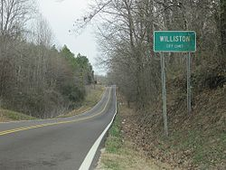 Entrance to Williston city limits