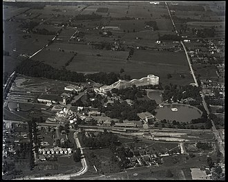 Willow Grove, Pennsylvania - Aerial view of the Willow Grove Park amusement park in 1926