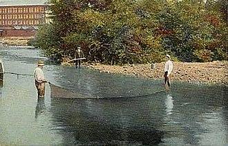Winnipesaukee River - Winnipesaukee River in 1907, Franklin, New Hampshire