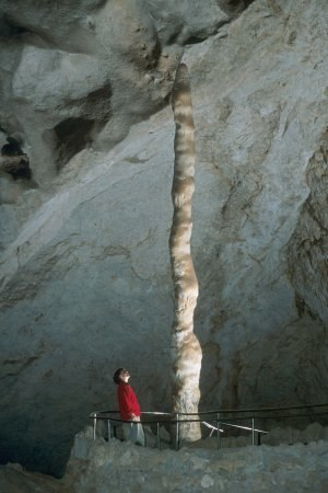 "Stalagmite - The ""Witch's Finger"" in the Carlsbad Caverns, New Mexico"