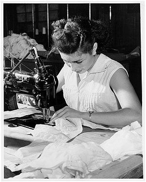 Bra - A seamstress sews a bra in Puerto Rico