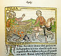 Woodcut illustration of Tullia driving over the body of her husband, Servius Tullius - Penn Provenance Project.jpg