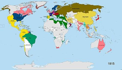 Lijst van landen in 1815