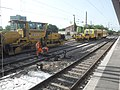 Wormser Hauptbahnhof- auf Bahnsteig zu Gleis 5- Richtung Mainz (Umbauten) 24.5.2009.JPG