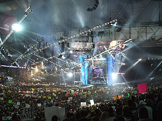 WrestleMania 23 - An attendance record setting 80,103 fans at Ford Field for WrestleMania 23