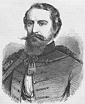 """John Xantus - portrait of """"Xántus János"""", 1862"""