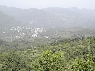 Xilitla - Town of Xilitla, seen from its western hills.