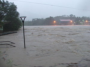 Typhoon Jangmi (2008) - The Xindian Creek on September 28