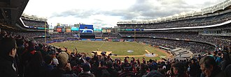 Multi-purpose stadium - A soccer match in New York City's Yankee Stadium.