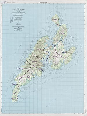 Yap State - A detailed map of Yap.