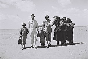 "Day to Mark the Departure and Expulsion of Jews from the Arab Countries and Iran - Yemenite Jews on their way to a camp set by ""the Joint"" in Aden."