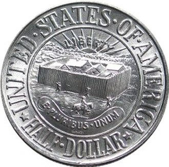 Early United States commemorative coins - York commemorative half dollar, obverse