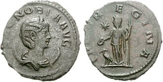 Palmyrene Empire - Zenobia as Augusta, on the obverse of an Antoninianus.