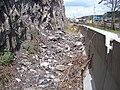 Zbraslavská, Barrandova skála, zábrany a spadané kamení.jpg
