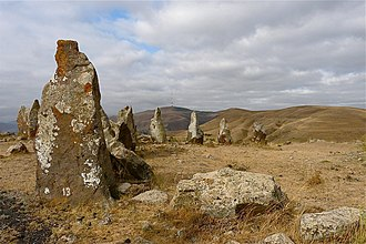 History of Armenia - Bronze Age burial site Zorats Karer (also known as Karahunj).