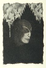 """The Golem"", page 2 from the book ""Der Golem"", illustrated by Hugo Steiner-Prag"