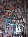 'Holy Crown' fresco-secco by Vilmos Novák Aba. Detail. St. Stephen's mausoleum. Medieval Ruin Garden - National Memorial. Listed ID 3842. - 5, Várkörút, Koronázó Squre, Belváros, Székesfehérvár, Fejér county, Hungary.JPG