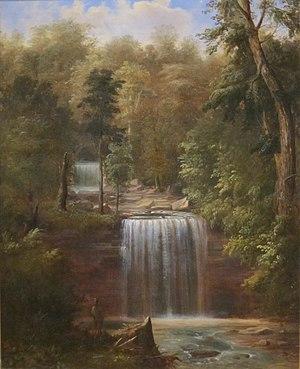 """Minneopa State Park - """"Minneopa Falls, Minnesota"""" (1862) by Robert S. Duncanson"""