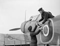 'wrens' Do Maintenance work at Naval Air Station. 4 March 1943, Royal Naval Air Station, Stretton, Lancs. Wrns Are Now Doing Maintenance work at the Aerodromes Where Fleet Air Arm Planes Are Overhaule A15143.jpg