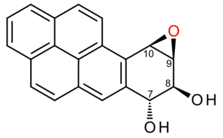 (+)-Benzo(<i>a</i>)pyrene-7,8-dihydrodiol-9,10-epoxide Cancer-causing agent derived from tobacco smoke