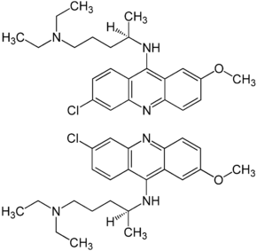 (±)-quinacrine enantiomers structural formulae.png