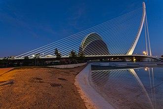 Cantilever spar cable-stayed bridge - Assut de l'Or Bridge, Valencia, Spain
