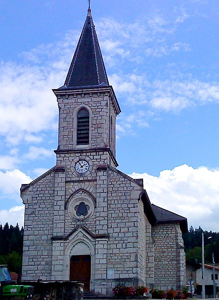 L'église de la commune de Condamine (Ain, France)