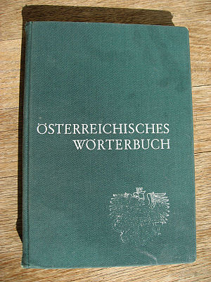 Österreichisches Wörterbuch - The school version of the 32nd edition from 1972