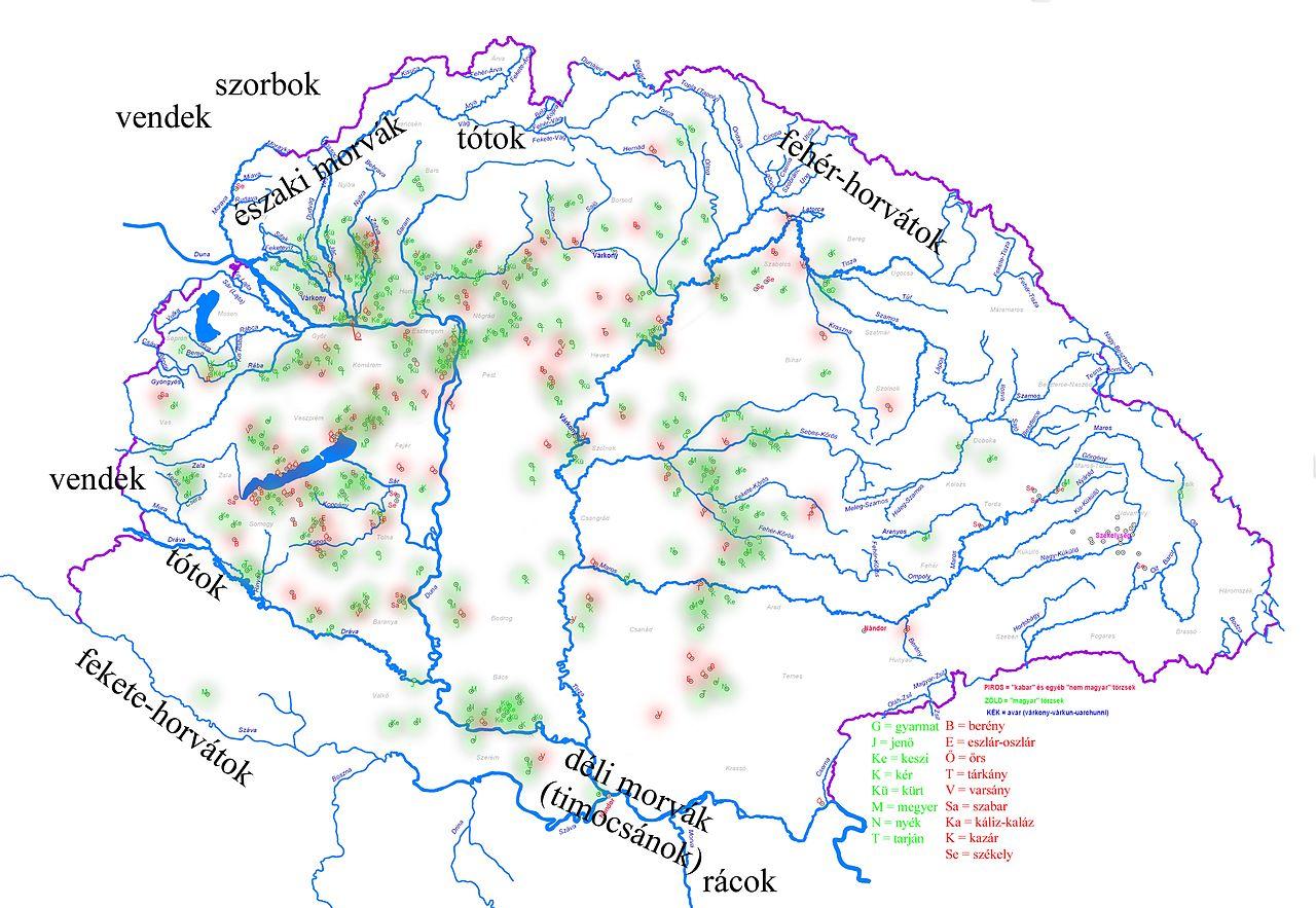 File Osszesitett Terkep A Magyar Torzsekrol Jpg Wikimedia Commons