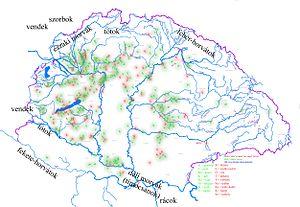Térkép hazánk törzsneves településeiről