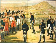 Александър I приема капитулацията на Наполеон, Париж, 1814 г.