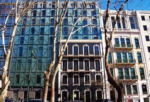 Avenida da Liberdade (Lisbon) - Mix of old and modern buildings in the Avenue