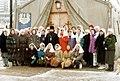 Настоятель прихода с первыми сестрами сестричества во имя прп. Евфросинии Полоцкой.jpg