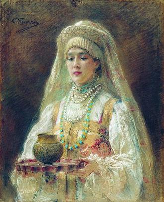 Medovukha - Konstantin Makovsky's painting featuring Medovukha.