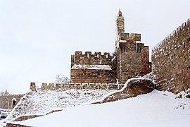 מגדל דוד בשלג 1992.jpg