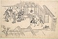 よしわらの躰 揚屋町入り口-The Entrance to Ageya-machi, from the series Scenes in the Yoshiwara (Yoshiwara no tei) MET DP124571.jpg