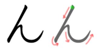 N (kana) - Stroke order in writing ん