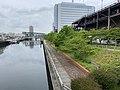 大阪市尻無川の高規格堤防.jpg