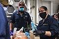 -USS Mount Whitney (LCC 20) medical evacuation drill in Gaeta, Italy, May 7, 2020- (49870147838).jpg