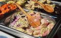 02015 Gefüllte Teigtachen mit Blaubeeren, Schokolode - Warme Speisen 0587.JPG