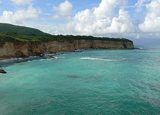Barahona Province - Sea Cliff on Caribbean coast near El Quemaíto, Barahona Province, Dominican Republic.