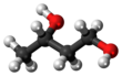Ball and stick model of 1,3-butanediol (S)
